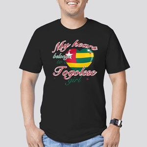 Togolese Valentine's designs Men's Fitted T-Shirt