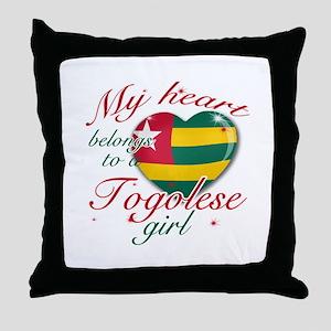 Togolese Valentine's designs Throw Pillow