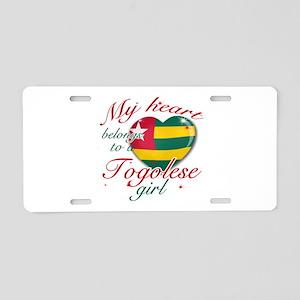 Togolese Valentine's designs Aluminum License Plat
