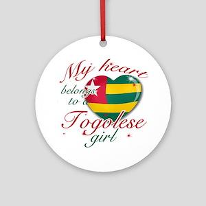Togolese Valentine's designs Ornament (Round)