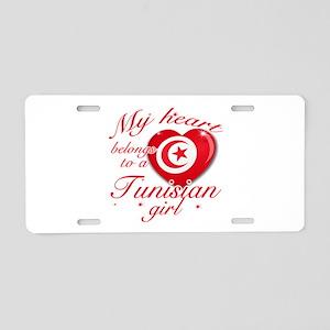 Tunisian Valentine's designs Aluminum License Plat