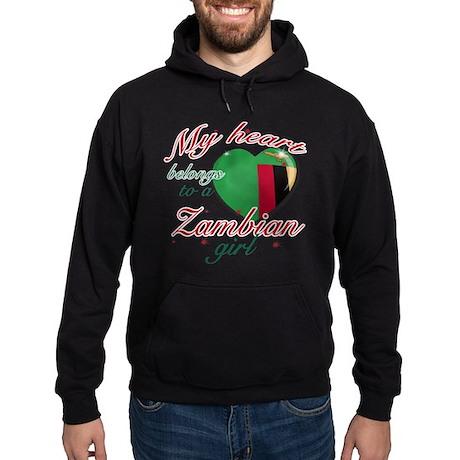 Zambian Valentine's designs Hoodie (dark)