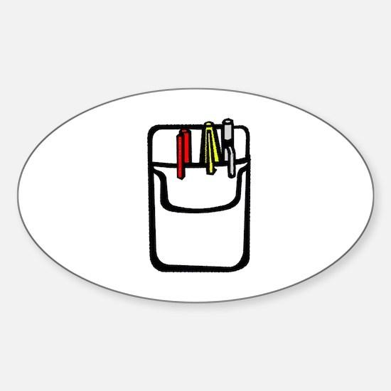 Pocket Protector Sticker (Oval)