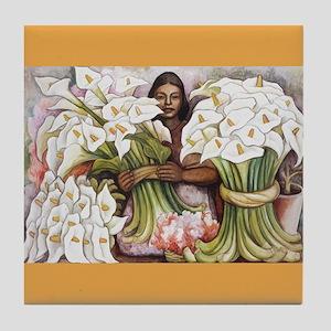Diego Rivera Girl Selling Cala Art Tile Coaster