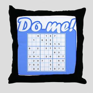 """Sudoku """"Do me!"""" Throw Pillow"""