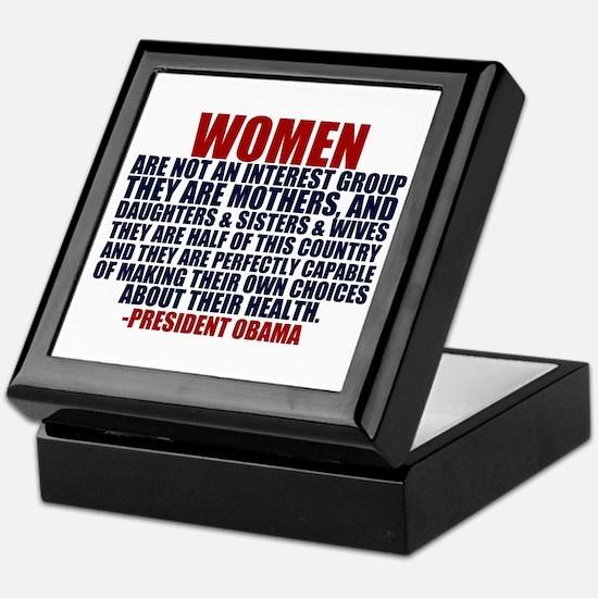 Pro Choice Women Keepsake Box