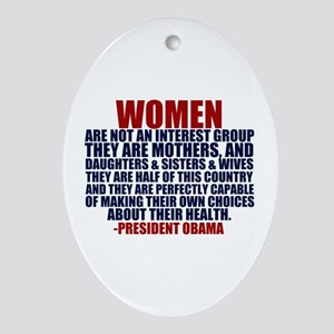 Pro Choice Women Ornament (Oval)
