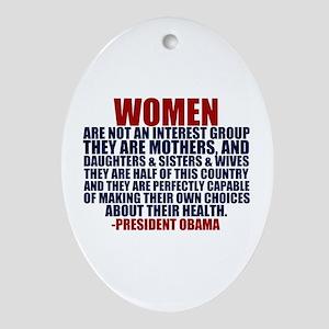 Pro Choice Women Ornament (Oval)