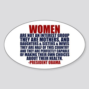 Pro Choice Women Sticker (Oval)