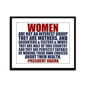 Pro Choice Women Framed Panel Print
