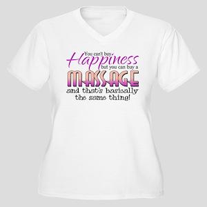 Happiness Massage Women's Plus Size V-Neck T-Shirt