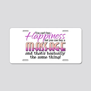 Happiness Massage Aluminum License Plate