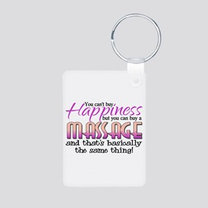Happiness Massage Aluminum Photo Keychain