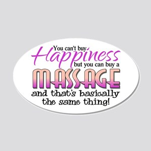 Happiness Massage 22x14 Oval Wall Peel