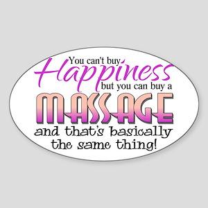 Happiness Massage Sticker (Oval)