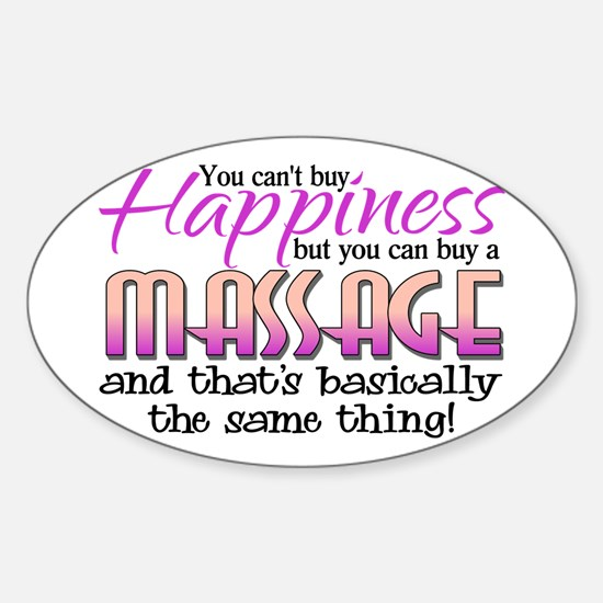 Happiness Massage Sticker (Oval)