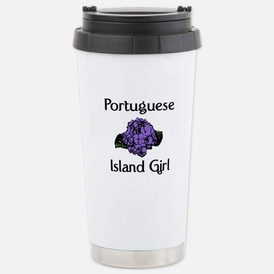 Portuguese Island Girl-Blue Stainless Steel Travel