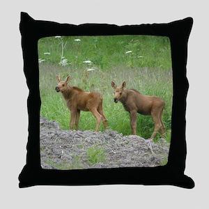 Twin Calves #01 Throw Pillow