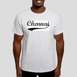 Vintage Chennai Ash Grey T-Shirt