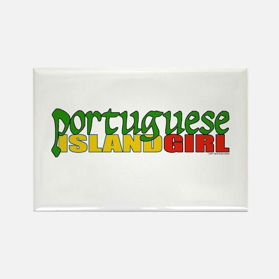 Portuguese Island Girl Rectangle Magnet