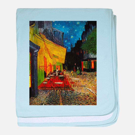 Van Gogh Cafe Terrace At Night baby blanket