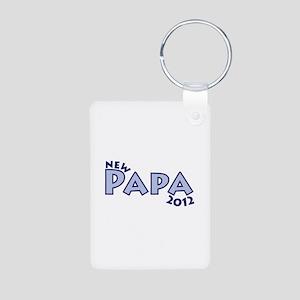 New Papa 2012 Aluminum Photo Keychain