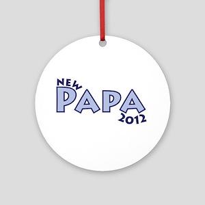 New Papa 2012 Ornament (Round)