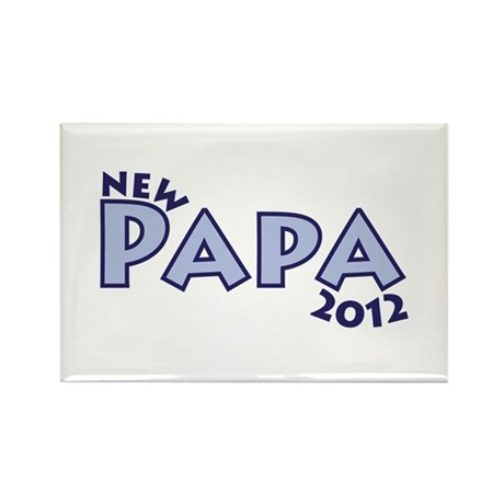 New Papa 2012 Rectangle Magnet