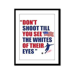 USA Soccer Framed Panel Print