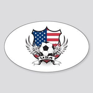 USA Soccer Oval Sticker