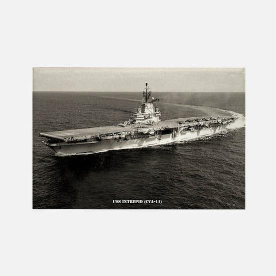 USS INTREPID Rectangle Magnet