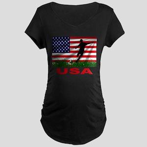 USA Soccer Maternity Dark T-Shirt