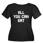 All you can eat Women's Plus Size Scoop Neck Dark