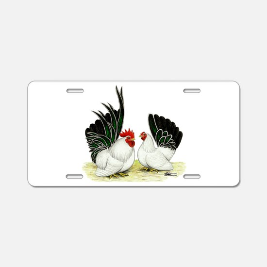 Japanese Black White Bantams Aluminum License Plat