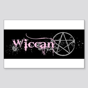 Wiccan Pink Sticker (Rectangle)