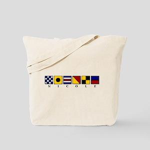Nautical Nicole Tote Bag