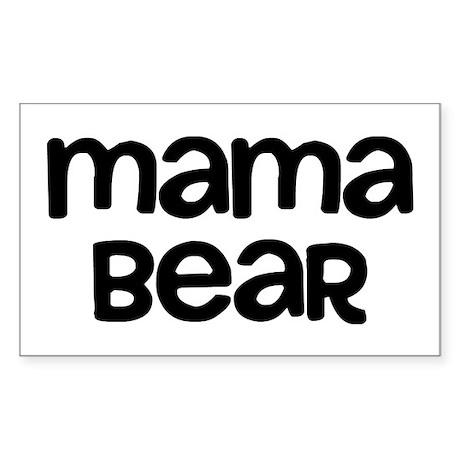 Mama Bear Sticker (Rectangle)