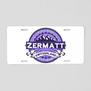 Zermatt Violet Aluminum License Plate