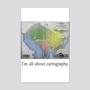 I'm All About Cartography Mini Poster Print