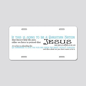 Christian Nation Aluminum License Plate