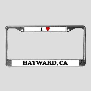 I Love Hayward License Plate Frame