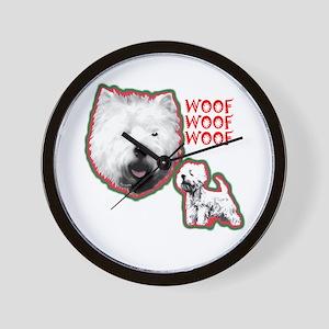 Westie, West Highland Terrier Wall Clock
