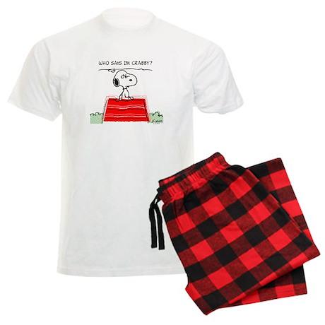 Crabby Snoopy Men's Light Pajamas