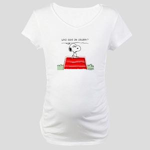 Crabby Snoopy Maternity T-Shirt
