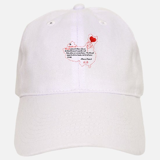 Red Thread on Light Baseball Baseball Cap