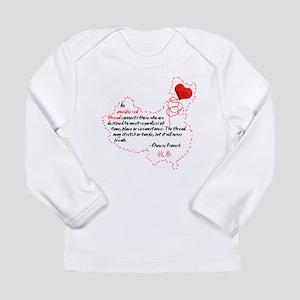 Red Thread on Light Long Sleeve Infant T-Shirt
