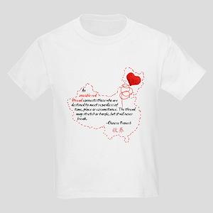 Red Thread on Light Kids Light T-Shirt