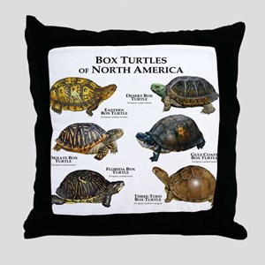 Box Turtles of North America Throw Pillow
