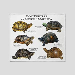 Box Turtles of North America Throw Blanket