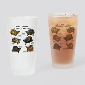 Box Turtles of North America Drinking Glass